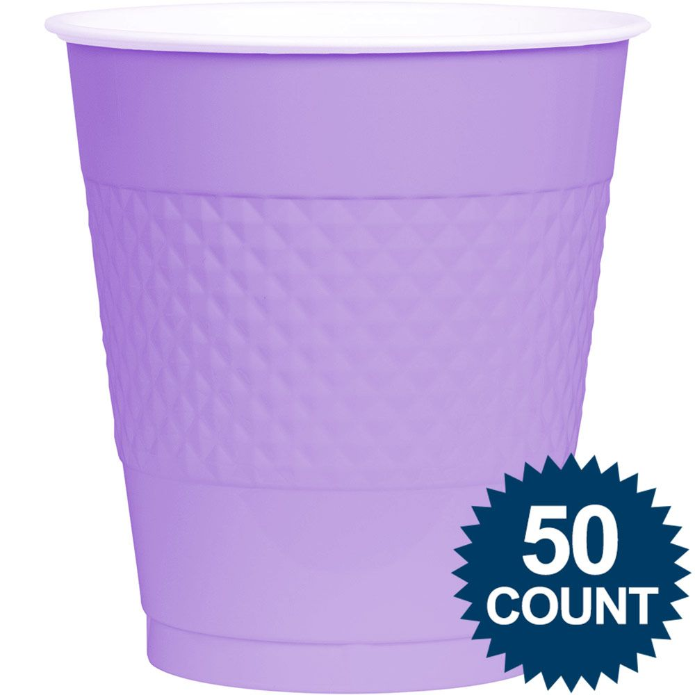 Lavender Plastic 16oz. Cup (50 Pack) - Party Supplies BB43680104