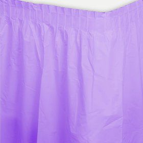 Lavender Plastic Table Skirt (Each)