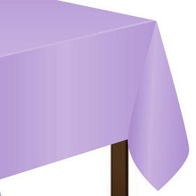 "Lavender Plastic Tablecover, 54""-108"""