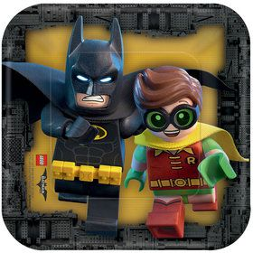 "Lego Batman 7"" Cake Plates (8 Count)"