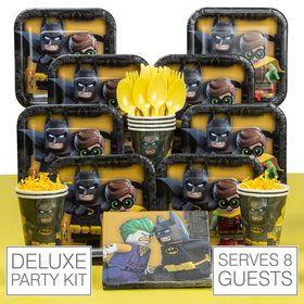 Lego Batman Deluxe Tableware Kit (Serves 8)
