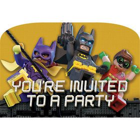 Lego Batman Postcard Invitations (8 Count)