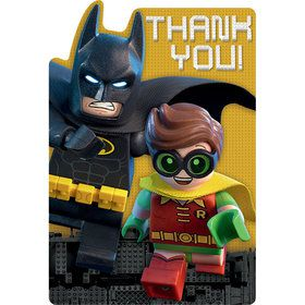 Lego Batman Postcard Thank You's (8 Count)