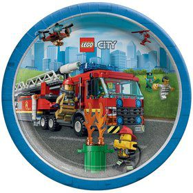Lego City Lunch Plates (8)