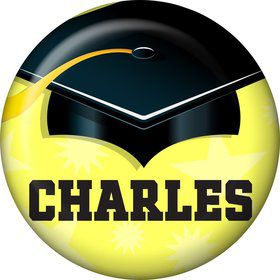 Lemon Yellow Grad Personalized Mini Button (Each)