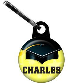 Lemon Yellow Grad Personalized Zipper Pull (Each)