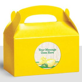 Lemonade Days Personalized Treat Favor Boxes (12 Count)