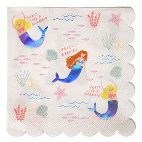 Let's Be Mermaids Lunch Napkins