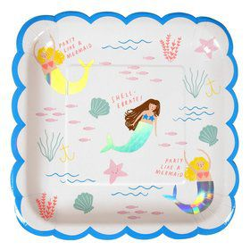 Let's Be Mermaids Lunch Plates