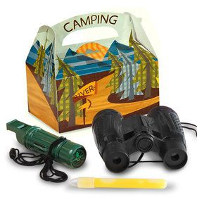 Let's Go Camping Favor Box (4-Pack)