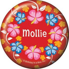 Let's Luau Personalized Button (each)