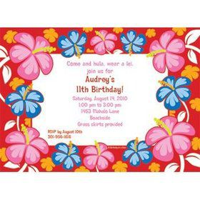 Let's Luau Personalized Invitation (each)