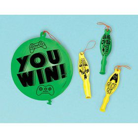Level Up Punch Balloon Favors (4)