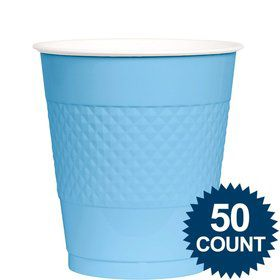 Light Blue 12Oz. Plastic Cup (50 Pack)