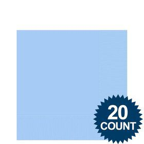 Light Blue 3-Ply Beverage Napkins, 20 ct.