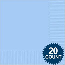 Light Blue 3-Ply Luncheon Napkins, 20 ct.