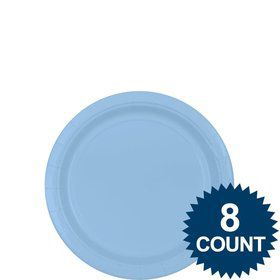 "Light Blue 7"" Paper Plate, 8ct."