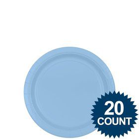 "Light Blue 7"" Paper Plates, 20 ct."