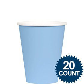 Light Blue 9 oz. Paper Cups, 20 ct.