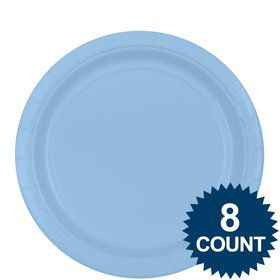 "Light Blue 9"" Paper Plate, 8ct."
