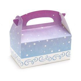Light Blue and Lavender with Stars Empty Favor Boxes (4)