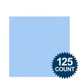 Light Blue Beverage Napkins (125 Pack)