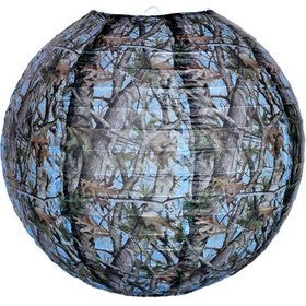 "Light Blue Camo 12"" Lantern (Each)"
