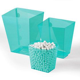 Light Blue Candy Buffet Containers (6 Count)
