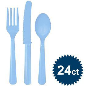 Light Blue Cutlery Set