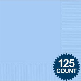 Light Blue Luncheon Napkins (125 Pack)