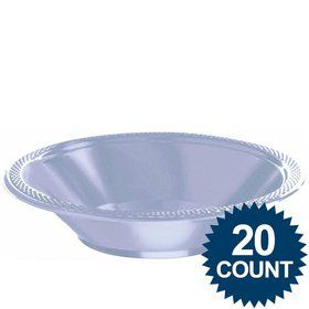 Light Blue Plastic 12oz. Bowls (20 Pack)