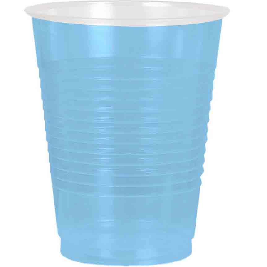 Light Blue Plastic 16Oz. Cup (50 Pack) - Party Supplies BB436801108