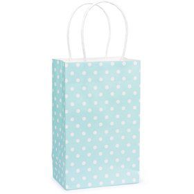 Light Blue Polka Dot Favor Bag