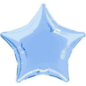 Light Blue Star Mylar Balloon (each)