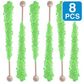Light Green Watermelon Rock Candy Sticks (8 Count)