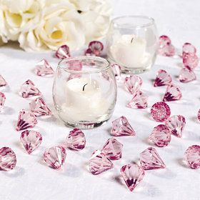 Light Pink Diamond Table Scatter