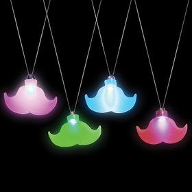 Light Up Moustache Necklace One size