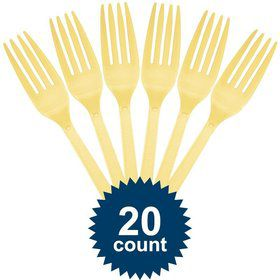 Light Yellow Plastic Forks