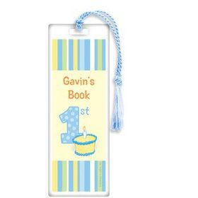 Lil' Boy 1st Birthday Personalized Bookmark (each)