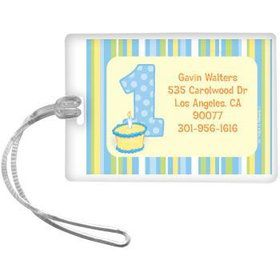 Lil' Boy 1st Birthday Personalized Luggage Tag (each)