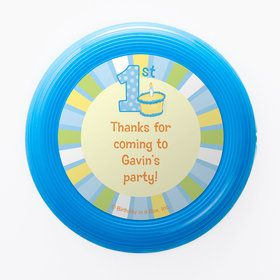 Lil Boy 1st Birthday Personalized Mini Discs (Set of 12)