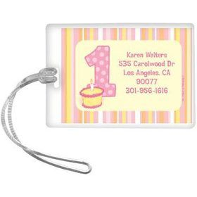 Lil' Girl 1st Birthday Personalized Luggage Tag (each)