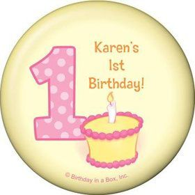 Lil' Girl 1st Birthday Personalized Magnet (each)