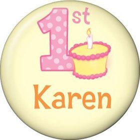 Lil' Girl 1st Birthday Personalized Mini Magnet (each)