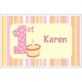 Lil' Girl 1st Birthday Personalized Placemat (each)