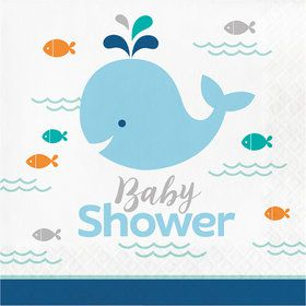 Lil Spout Blue Baby Shower Lunch Napkins (16 Count)