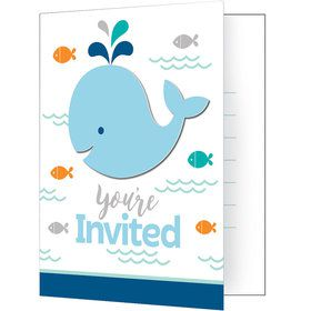 Lil Spout Blue Invitations (8 Count)