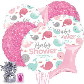 Lil' Spout Pink Baby Shower Balloon Bouquet Kit