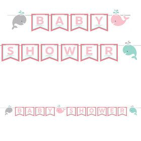 Lil Spout Pink Baby Shower Banner