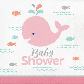 Lil Spout Pink Baby Shower Lunch Napkins (16 Count)